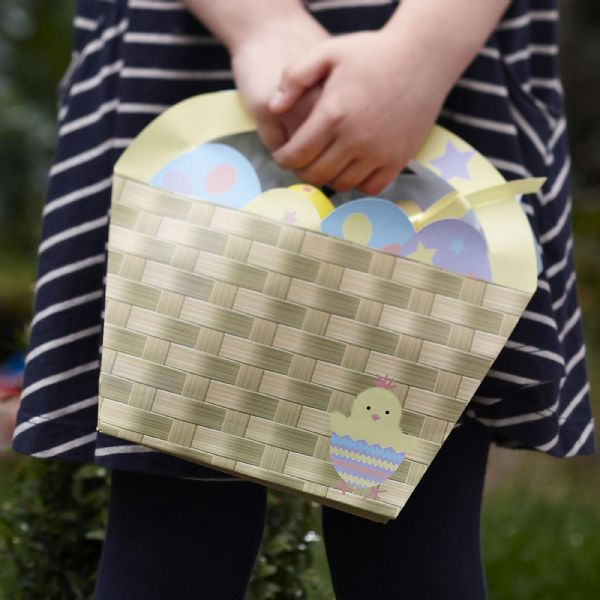 Easter Chick Paper Baskets (4)